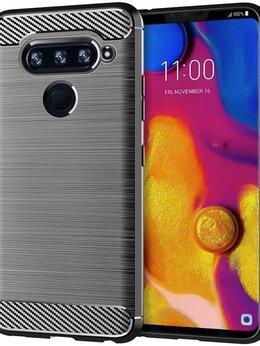 Чехлы - Чехол для LG V40 ThinQ цвет Gray (серый), серия…, 0