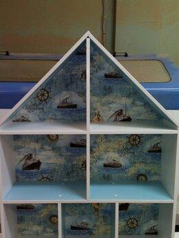Стеллажи и этажерки - Стеллаж шкафчик домиком. Кукольный Дом полка…, 0
