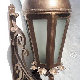 Уличное освещение - Фонарь уличный, кованый, бронза., 0