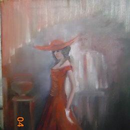 """Картины, постеры, гобелены, панно - """"Дама в красном"""", 0"""