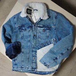 Куртки - НОВАЯ Утепленная джинсовая куртка НЕ КИТАЙ НА МЕХУ, 0