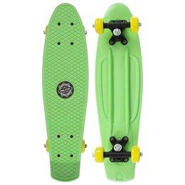 Скейтборды и лонгборды - Пени борд 56 х 15 см, колеса PVC 50 мм, пластиковая рама, цвет зеленый, 0