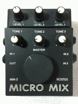 Гитарное усиление - МИКРОМИКШЕР Micro Mix MM-3 Rostex, 0