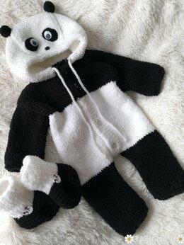 Комбинезоны - Плюшевый комбинезон мишка панда , 0