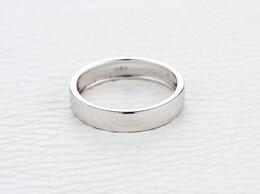 Кольца и перстни - Обручальное кольцо из белого золота, 0
