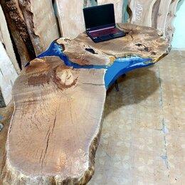 Компьютерные и письменные столы - Компьютерный стол из массива дуба Стол для руководителя, 0