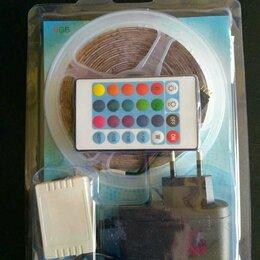 Светодиодные ленты - Светодиодная лента цветная 5м (4S) с пультом, 0