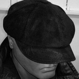 Головные уборы - Кепка хулиганка кожаная Вэй, черная (новая), 0