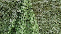 Тенты строительные - Маскировочная сетка 3*6 м имитация живой изгороди, 0
