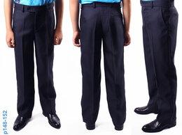 Брюки - Школьные брюки синие п/ш 146-152 на стройного, 0