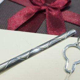 Запонки и зажимы - Зажим для галстука серебро, 0