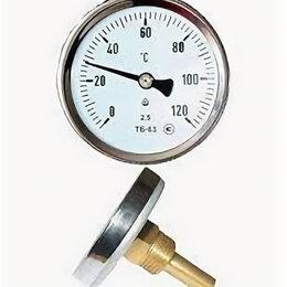 Метеостанции, термометры, барометры - Термометр биметаллический ТБ63 120С Дк60 L=60, 0
