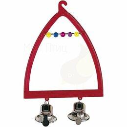 Игрушки и декор  - Пластиковые качели для канареек и экзотических птиц PA 4058 - Аксессуары для кле, 0