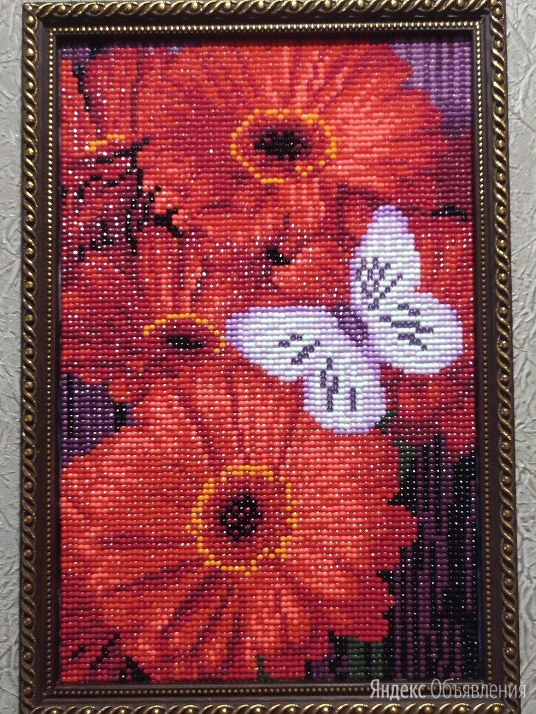 """Алмазная мозаика """"Гербера"""" по цене 1500₽ - Картины, постеры, гобелены, панно, фото 0"""