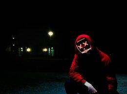 Карнавальные и театральные костюмы - Неоновая маска Судная ночь, 0