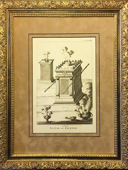 Гравюры, литографии, карты - 1759 год. Еврейские жертвенники для курений,…, 0