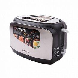 Сэндвичницы и приборы для выпечки - Тостер электрический Endever Skyline ST-121 черный, 0