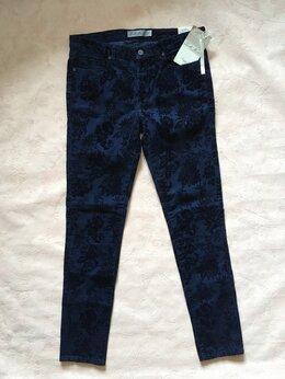 Брюки - Брюки джинсы женские тёмно-синие с бархатными…, 0