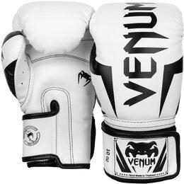 Боксерские перчатки - Боксерские перчатки Venum Elite White, 0