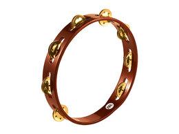 Аккордеоны, баяны, гармони - Тамбурин, 1 ряд бубенцов, коричневый, Meinl |…, 0