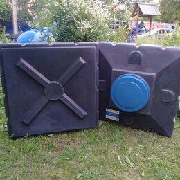 Души - Бак для душа 200 литров Aquaplast чёрный, плоский, горизонтальный, 0