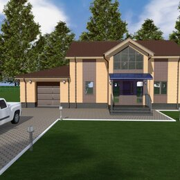 Готовые проекты, методики, технологии - Проект двухэтажного дома с гаражем, 0
