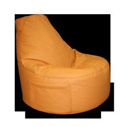 Кресла-мешки - Кресло мешок банан экокожа оранжевое, 0