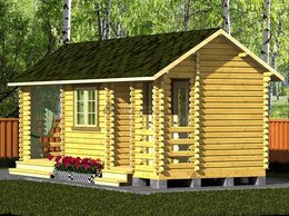 Готовые строения - Хозблок из мини-бруса с душем и туалетом 7,5х3…, 0
