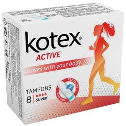 Прокладки и тампоны - Kotex Тампоны Active Super 8шт, 0