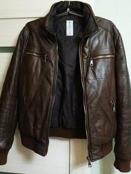 Куртки - Дорогая Итальянская кожаная куртка Reali 26,р-р 48, 0