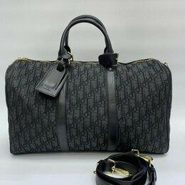 Дорожные и спортивные сумки - Дорожная сумка Christian Dior мужская/женская текстиль+ кожа черная новая, 0