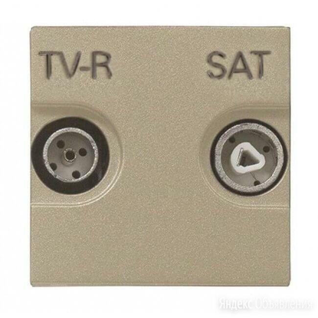 Розетка TV-R-SAT ABB Zenit шампань 2CLA225130N1901 по цене 2398₽ - Электроустановочные изделия, фото 0