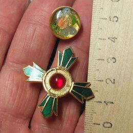 Жетоны, медали и значки - орден тяжелый металл, с рубином в центре, 0