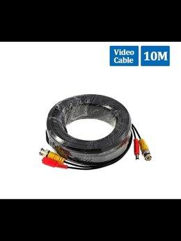 Кабеленесущие системы - Готовый кабель для камер видеонаблюдения 10 метров, 0