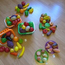 Игрушечная еда и посуда - Игровые наборы овощей и фруктов, 0