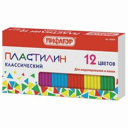 Лепка - Пластилин 12 цв. 120 г STAFF\ПИФАГОР, 0