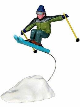 Новогодние фигурки и сувениры - Фигурка 'Лыжник прыгает с трамплина', 10 см, LEMAX, 0