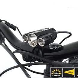 Фонари - Фара велосипедная -Фонарь налобный -W601 (3L, 2*18650, ZOOM, Т6)/40, 0