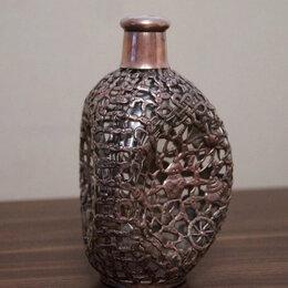 Этикетки, бутылки и пробки - Бутылка в металлической оплетке стекло, 0