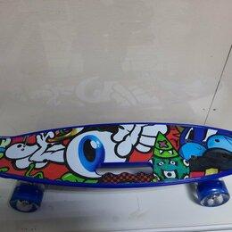 Скейтборды и лонгборды - Пенниборд яркие принты, 0