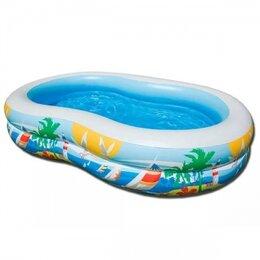 Бассейны - Бассейн надувной для детей 262х160х46см, 0