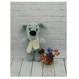 Мягкие игрушки - Вязаный пёс., 0