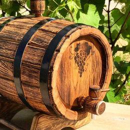 Бочки, кадки, жбаны - Бочка дубовая 5 литров для хранения алкоголя, 0