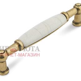 Аксессуары и запчасти - Ручка-скоба 96мм бронза состаренная/керамика состаренная: UP214AB/MLK, 0