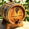 Дубовая бочка 10 литров для хранения спиртных напитков по цене 4900₽ - Бочки, кадки, жбаны, фото 0