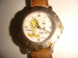 Наручные часы - Часы с утенком Disney на коричневом ремешке винтаж, 0