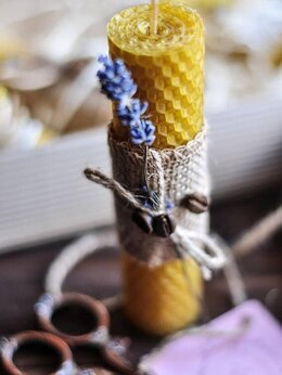 Декоративные свечи - Свечи из вощины, 0