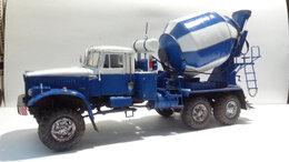 Сборные модели - Модель автомобиля,Краз 255в бетоносмеситель, 1/35, 0