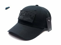 Головные уборы - Бейсболка кепка мужская Stone Island (черный) патч, 0