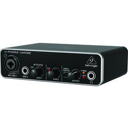Звуковые карты - BEHRINGER UMC22 Внешняя звуковая карта USB, 0